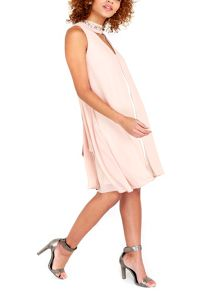 Wallis Nude Embellished Neck Overlaye