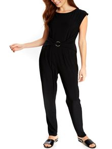 Wallis Black Metal Ring Jumpsuit