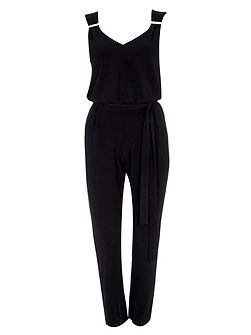 Black Elegant Long Sleeved Jumpsuit