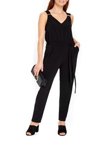 Wallis Black Elegant Long Sleeved Jumpsuit