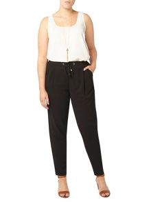 Evans Black tie tapered trousers