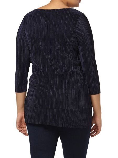 Evans Live Unlimited Navy Pleat Top
