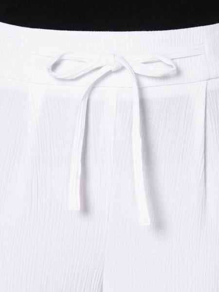 Evans White Tie Front Trousers