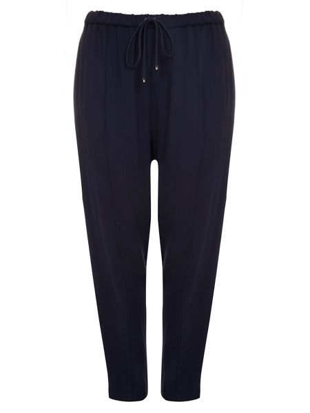 Evans Live Unlimited Navy Drawstring Trousers