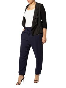 Live Unlimited Navy Drawstring Trousers