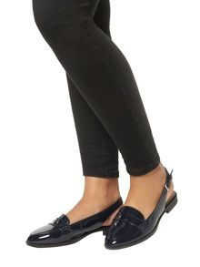Evans Extra Wide Fit Navy Slingback Loafer