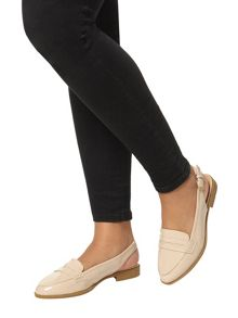 Evans Extra Wide Fit Nude Slingback Loafer