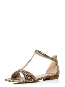 Evans Extra Wide Fit Snake Square Toe Sandal