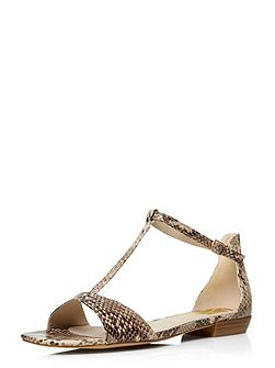 Extra Wide Fit Snake Square Toe Sandal