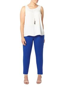 Evans Blue linen blend tapered trousers