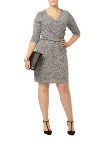 Evans Light Grey Hourglass Wrap Dress