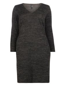 Evans Dark Grey Hourglass Wrap Dress