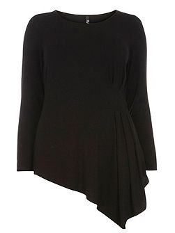 Black Hourglass Fit Asymmetric Top