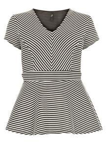 Evans Stripe Hourglass Asymmetric Top