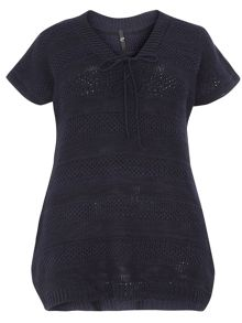 Evans Navy Knitted Jumper