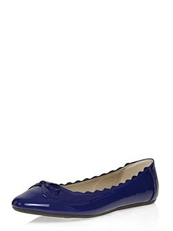 Extra Wide Fit Blue Patent Ballerina