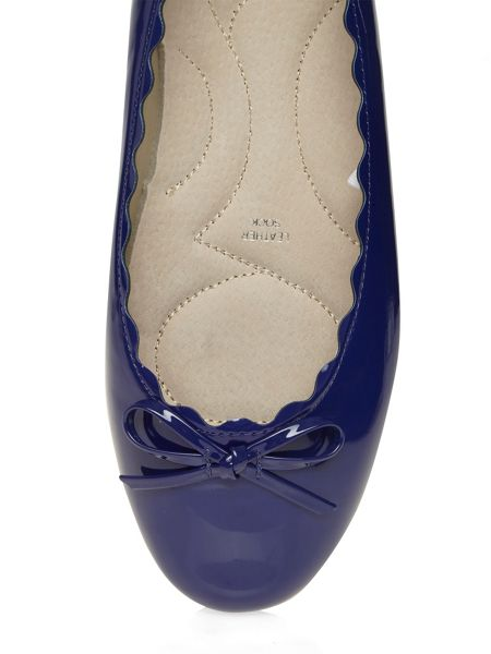 Evans Extra Wide Fit Blue Patent Ballerina