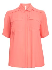 Evans Coral Pocket Shirt.