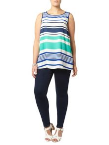 Evans Multi Stripe Vest Top