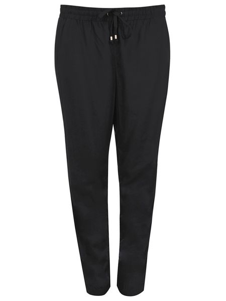Evans Black Tapered Trousers