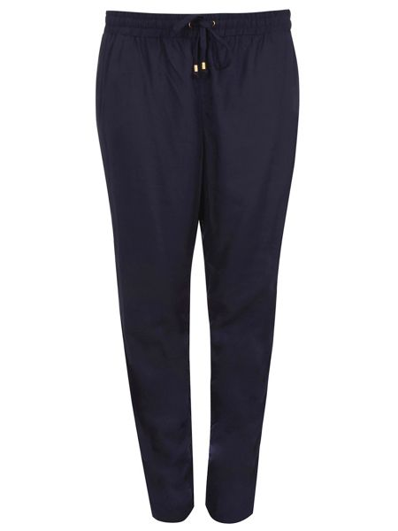 Evans Navy Tapered Trousers