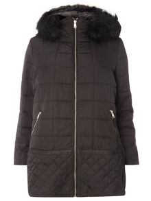 Evans Black Padded Coat