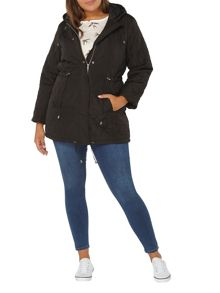 Evans Black Quilted Coat
