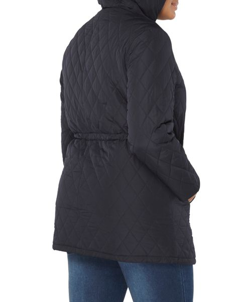 Evans Navy Blue Quilted Coat