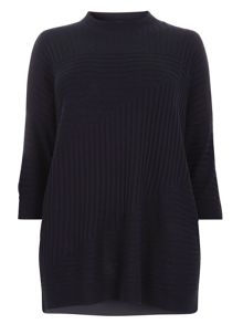 Evans Navy High Neck Jumper