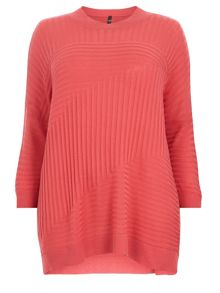 Evans Pink High Neck Jumper