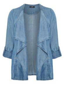 Evans Denim waterfall jacket