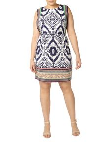 Evans Ivory Aztec Printed Dress