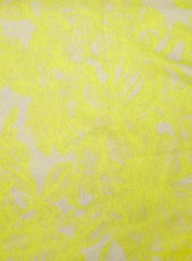 Evans Yellow floral print scarf
