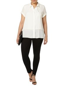 Evans Ivory Double Layer Shirt
