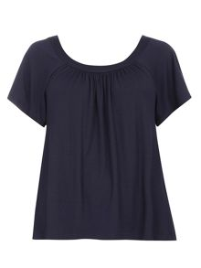 Evans Navy bardot top