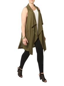 Evans Khaki Sleeveless Jacket