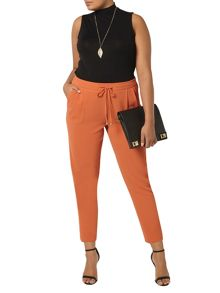 Evans Rust Orange Tie Tapered Trousers