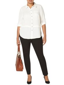 Evans Ivory Button Through Blouse