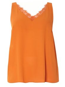 Evans Rust Lace Trim Cami