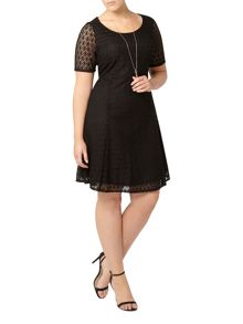 Evans Black Lace Midi Dress