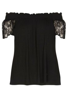 Evans Black Gypsy Top