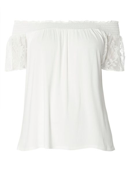 Evans Ivory Gypsy Top