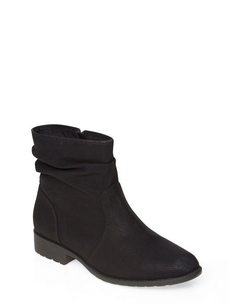 Evans Black Slouch Ankle Boot