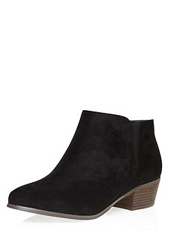 Black Block Heel Ankle Boot