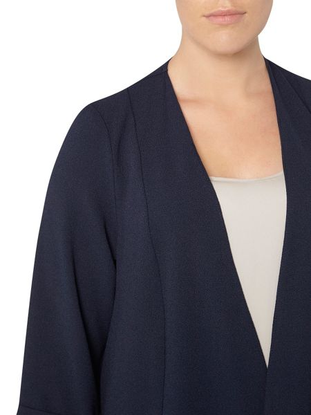 Evans Navy Soft Waterfall Jacket