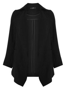 Evans Black Waterfall Jacket