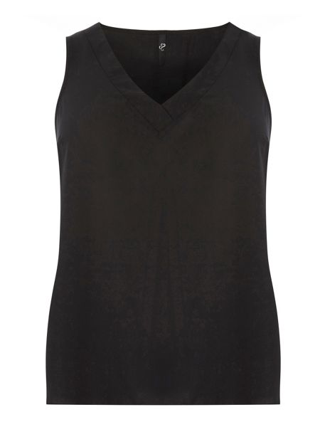 Evans Black Cross Front Vest