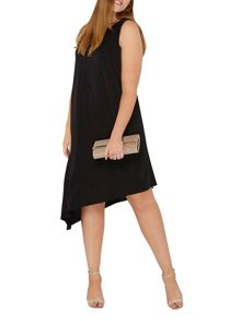 Evans Black Asymmetric Dress