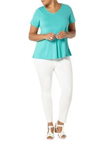 Evans Aqua Short Sleeve Top