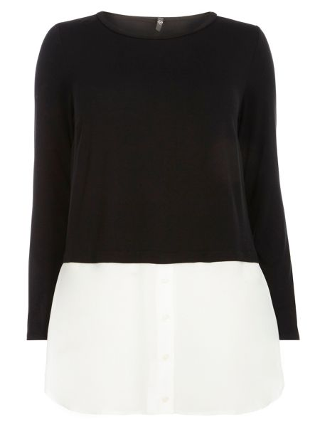 Evans Black And Ivory 2 In 1 Top